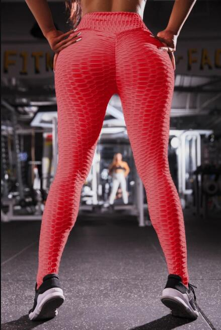 High Waist Fitness Leggings Womens Gym Workout Push Up Trousers Solid Yoga Pant