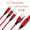 3 in 1 Red Cable