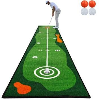 цена на Crestgolf 300cm*50cm Golf Mat Golf Putting Green Indoor Golf Practice Using Indoor Outdoor Long Hitting Mat Golf Training Aids