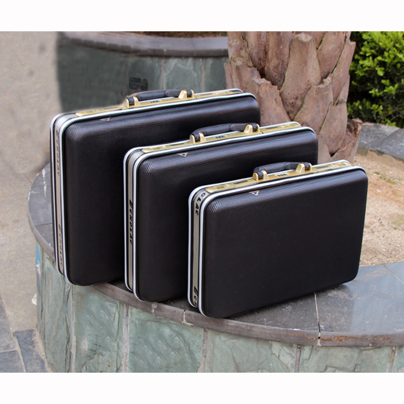 Vysoce kvalitní hliníkový kufřík na nářadí kufr na heslo schránka na soubory Skříň na dokumenty Nárazuvzdorné bezpečnostní pouzdro na fotoaparát