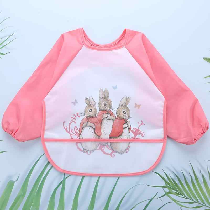 Tahan Air Bayi Makan Smock Musim Gugur Musim Dingin Anak Laki-laki Gadis Lengan Panjang Bib Bayi Anti Berpakaian Menggambar Anak-anak Apron Bersendawa pakaian