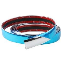 Auto Chrome Moulding Trim Strip Bumper Protector Trim Tape For Window Bumper Grille Door Chrome Strip Car Sticker