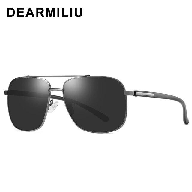 Dearmiliu design masculino óculos de sol polarizados homem condução praça polit clássico óculos de sol uv400 lente gafas de sol