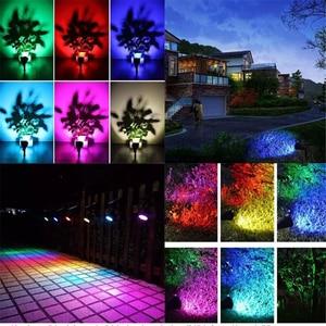 Image 5 - Lámpara Solar LED para exteriores, 7 colores, foco de pico, luz de jardín impermeable para Patio, césped, luz de pared de noche segura para casa