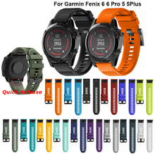 26 22MM Silicone Quick Release Watchband Strap for Garmin Fenix 6X 6 6S Smartwatch Easyfit Wrist Band Straps Fenix 5X 5 5S 3 3HR