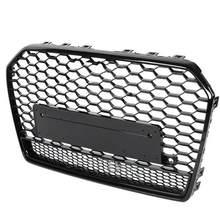 Para rs6 estilo frente esporte hex malha favo de mel capa grill preto para audi a6/s6 c7 facelift 2015 2016 2017 2018 acessórios do carro