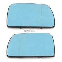 Espelho da asa da porta de vidro azul aquecido para bmw x5 e53 1999 2006 3.0i 4.4i esquerda lado direito do carro estilo espelho de aquecimento retrovisor