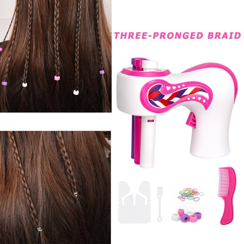 Electric Automatic Hair Braider Three Strands Hair Braiding Machine DIY Hair Styling Tools Adult Kids Hair Braiding Tools