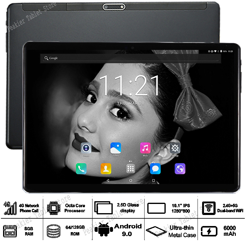 TABLET Wifi Android 10inch Sim-Cards Core Dual 4G LTE Octa 10-10.1 128G Glass 3G IPS title=