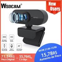 HD 1080P Webcam Mini Computer PC Webkamera mit Mikrofon Drehbare Kameras für Live Broadcast Video Aufruf Konferenz Arbeit