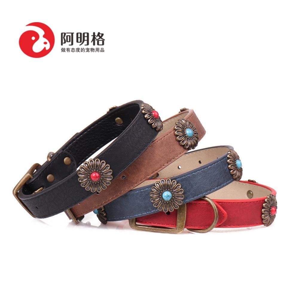 Jin Jie Te 2018 New Style Bronze Daisy Pet Collar Dog Neck Ring Pet Supplies