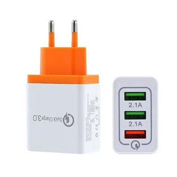 Smart Travel 3 ładowarka USB Adapter ścienny przenośny szybki telefon komórkowy ładowanie iphone'a dla androida wtyczka EU/US