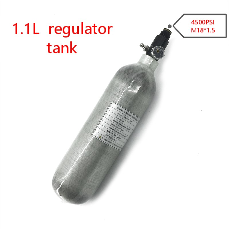 AC30116 Pcp Air Gun Mini Air Tank 1.1L GB 300Bar Cylinder Air Rifle Carbon Fiber Airgun Regulator Paintball Pcp Airforce Condor