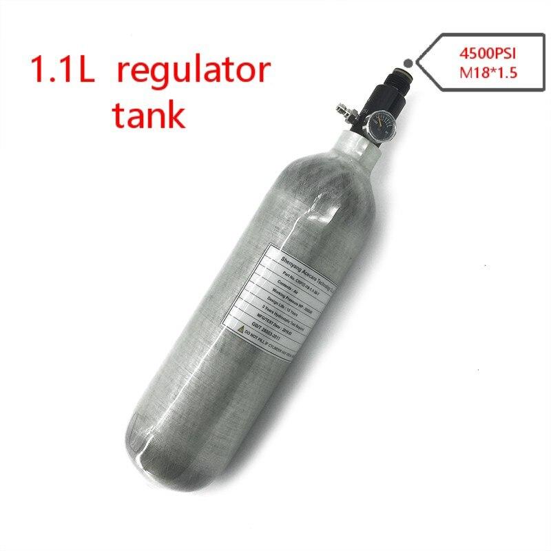 AC30116 Pcp Air Gun Mini Air Tank 1.1L GB 300Bar Cylinder Air Rifle Carbon Fiber Airgun Regulator Paintball Pcp Airforce Condor