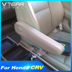 Vtear For Honda Crv Armrest Car Seat Side Pad Arm Rest Cushion Interior Parts Leather Cover Accessories 2007 2008 2011 2017 2018
