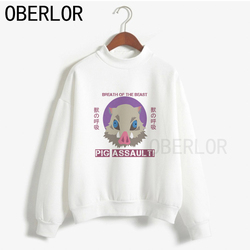 2020 porco assalto inoske hashibira oversize hoodies mulheres outono vintage roupas soltas streetwear unisex camisola feminina topo