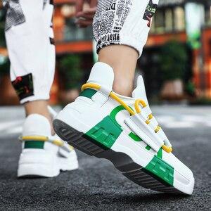 Image 5 - Chunky scarpe Da Tennis di Sport Casual Scarpe Hip Hop Streetwear Spessore Degli Uomini di Fondo Giallo INS Runningg Scarpe Cestino Tenis Masculino Adulto