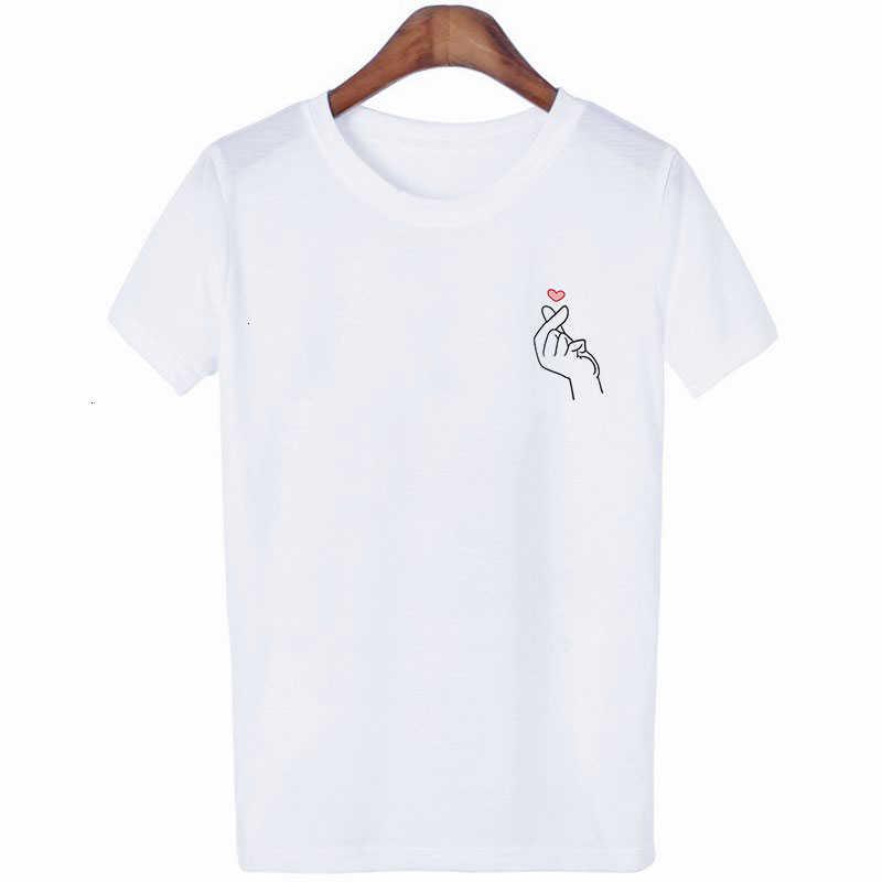 Gibt Sie Liebe Liebe Geste Frauen T-shirt Tumblr Koreanische Stil Gothic Harajuku Baumwolle Plus Größe Kurzarm Streetwear Kleidung
