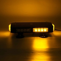13'' 24 LED Car Emergency Flasher Warning Strobe Light Bar Beacon Lamps Roof Top Warning LED Flashing Lights Waterproof Amber