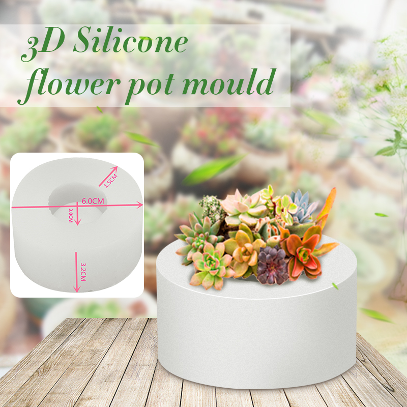 Silicone <font><b>Mold</b></font> Geometric Polygonal Concrete <font><b>Flower</b></font> Pot <font><b>Vase</b></font> Mould Office Decoration DIY Clay Cementsilica Silicone <font><b>Mold</b></font> image