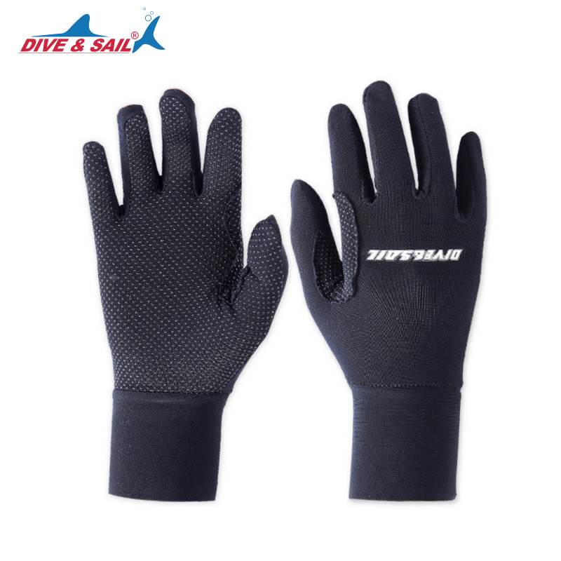 DIVE&SAIL Lycra Tight Diving Gloves for Men Women Kitesurfing Jet Ski Snorkeling Swimming Boating Keep Warm Anti-skid Gloves