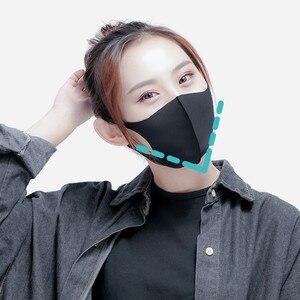 Image 4 - Original Youpin Airpop Gehen 5 stücke Anti nebel Gesicht Maske schwarz Staubdicht, waschbar, und UV schutz maske