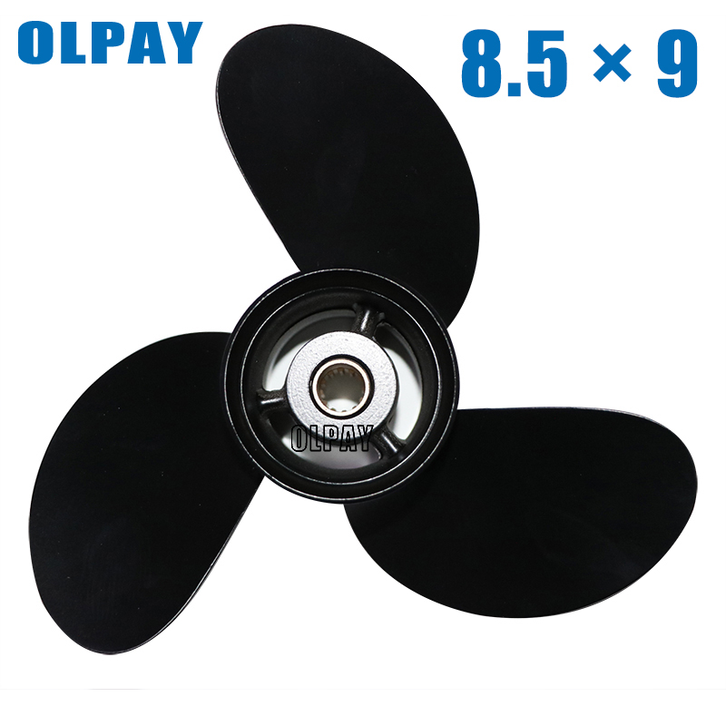 Aluminum Alloy Propeller 8.5x9 For Tohatsu/ Nissan 8HP 9.8HP Boat Engine 3B2B64517-0