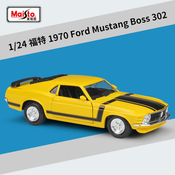 Maisto 1:24 1970 Ford Mustang BOSS 302 Mustang Roadster Ford Mustang Simulation Alloy Car Model collection gift toy 1 18 ford mustang gt car diecast car model for gifts collection hobby