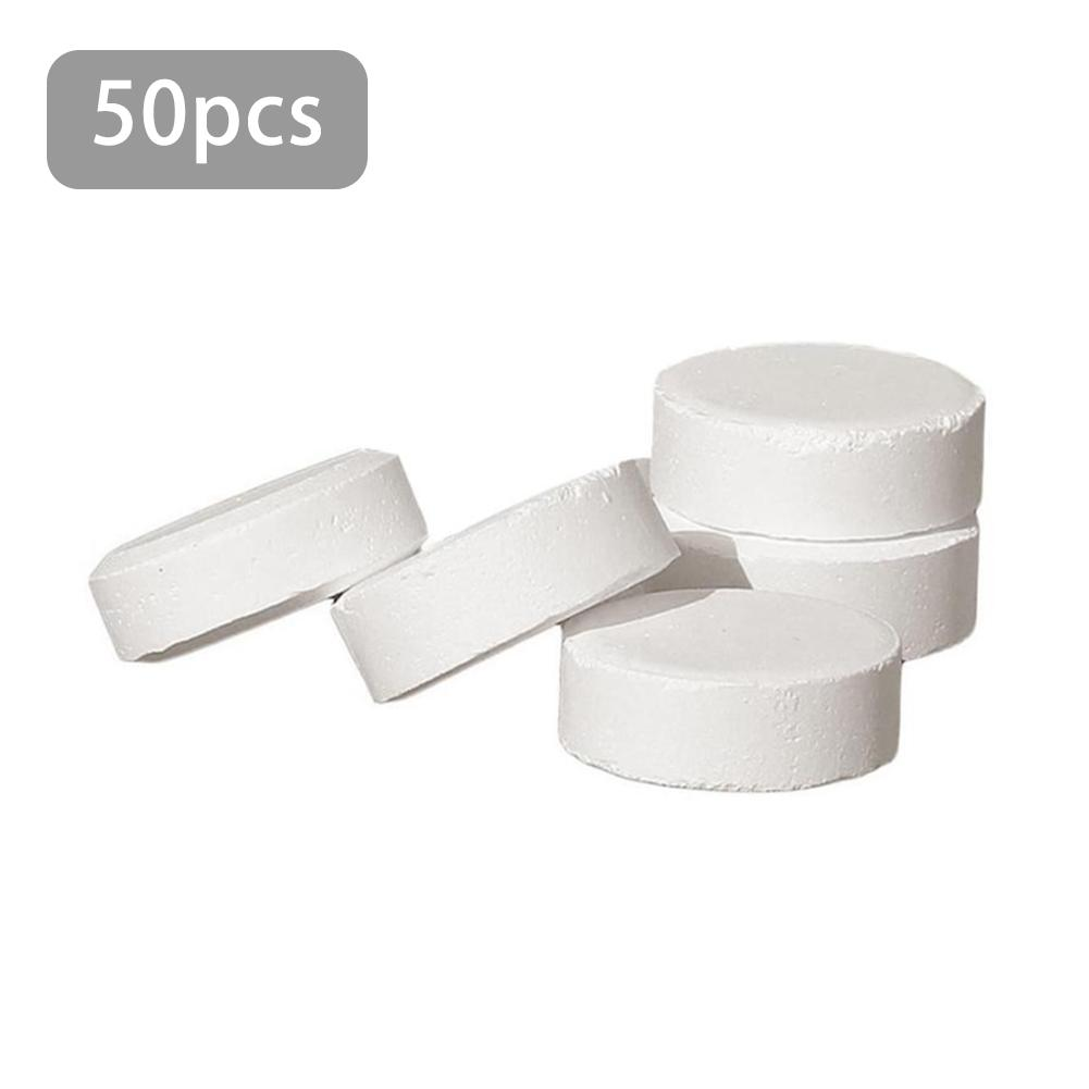 50pcs Swimming Pool Instant Disinfection Tablets Chlorine Dioxide Effervescent Tablets Disinfectant Strong Chlorine Ingots