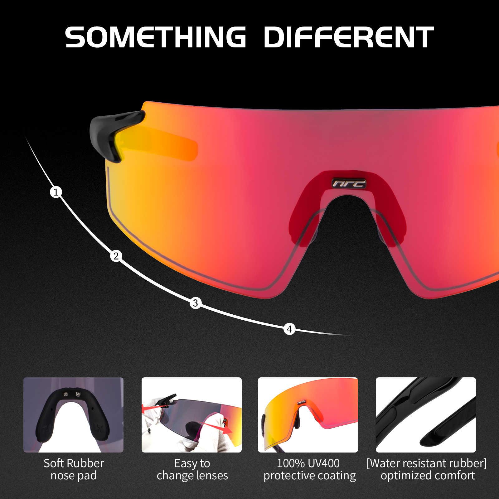 Велосипедные солнцезащитные очки NRC, защитные очки для горных велосипедов UV400, спортивные очки для горных велосипедов, ветрозащитные очки