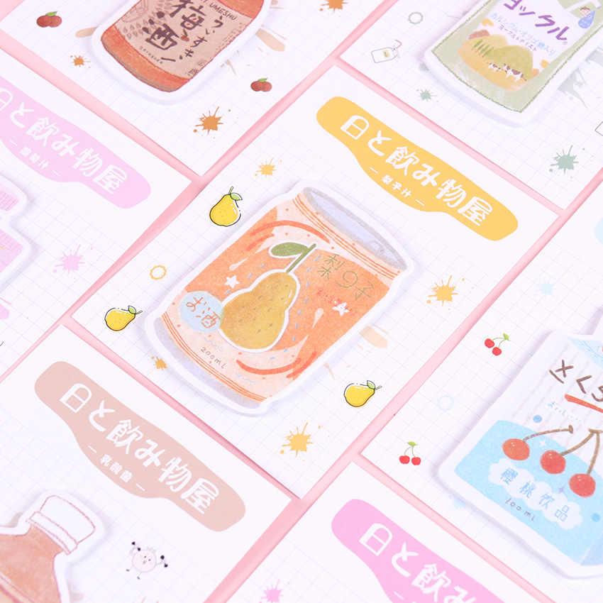 1PC น่ารัก Kawaii เครื่องดื่ม Shop Series หมายเหตุ N ครั้งโพสต์ไดอารี่วาระ Memo Pads Filofax สำหรับเด็กอุปกรณ์สำหรับโรงเรียน