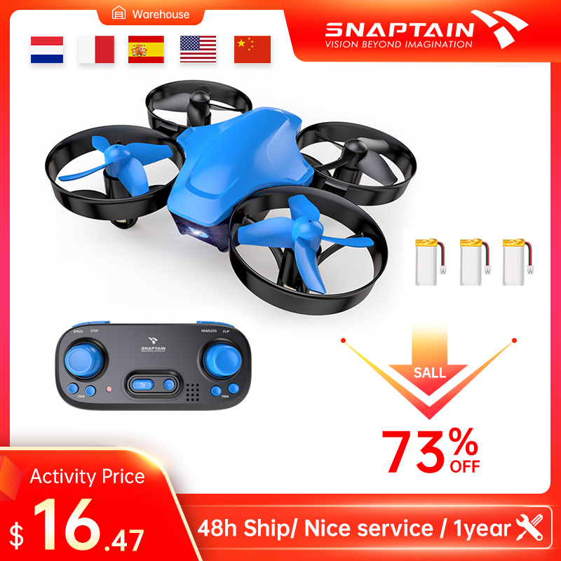 SNAPTAIN SP350 Mini Drone Portable Circle Flying 3D Flip Speed Adjustment  Altitude Hold Dron Christmas Gift Toy for Kids