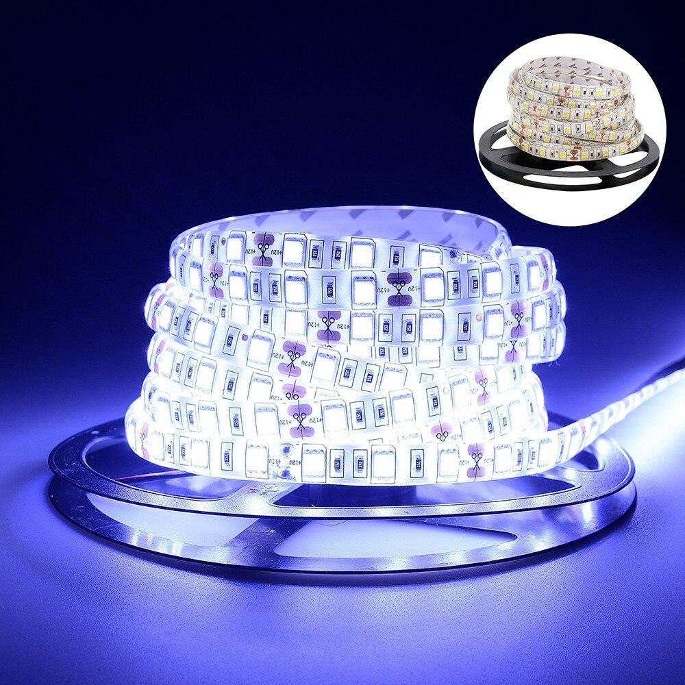 Водонепроницаемая светодиодная лента 2835 DC12 в 60 светодиодов/м 5 м/лот светильник та RGB 5050 Светодиодная лента белый/теплый белый/красный/жадны...
