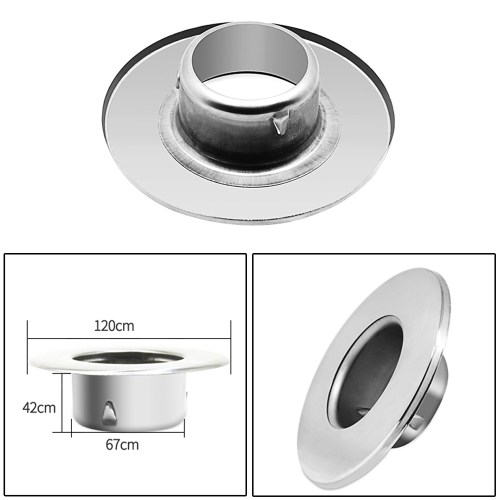 Stainless Steel Wall Wire Hole Cover Air-conditioning Pipe Plug Dust Cover Wall Hole Covers Cable Protector Furniture Hardware