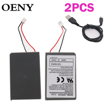 2pcs2.0AH 2PK Battery & Cable For Sony Playstation PS4 Pro Dual shock 4 Pro Controller Second Generation CUH-ZCT2 or CUH-Z