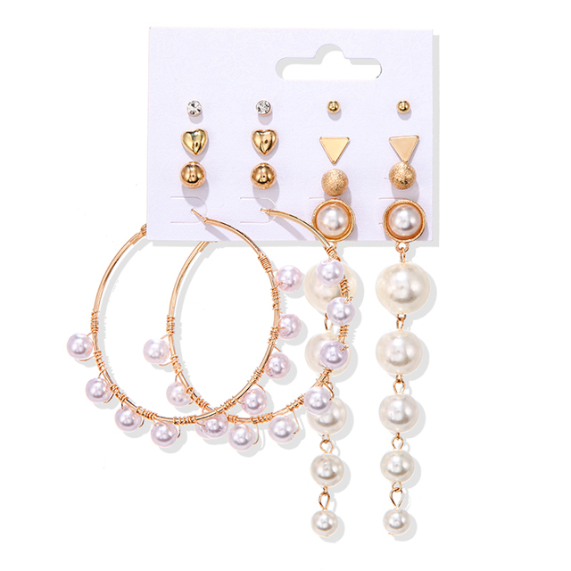 Pearl Earrings set 3
