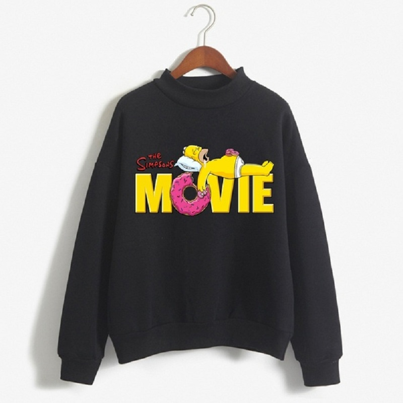 Autumn Women/men The Simpsons Movie Printing Long Sleeve Funny Sweatshirt Hoodie Top