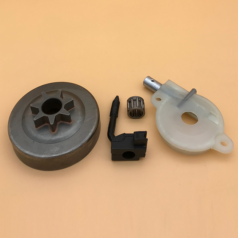 HUNDURE Clutch Drum Oil Pump Bearing Kit For Husqvarna 142 137 141 136 36 41 Chainsaw Replacement Parts .325