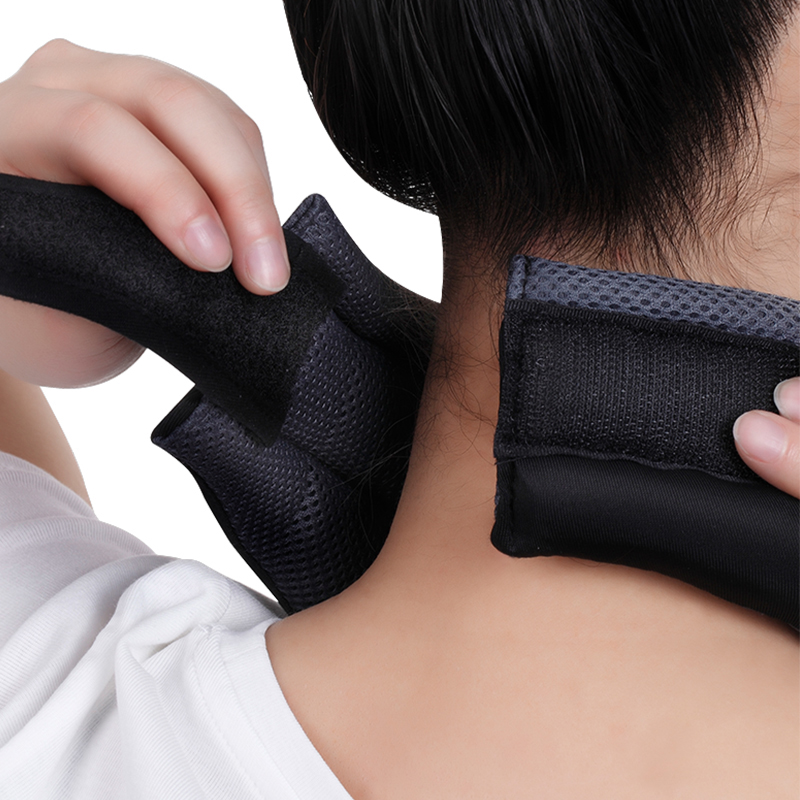 Купить с кэшбэком BYEPAIN Massage Neck Traction Massager Corrector Health Care Relax Neck Support Brace for Head Back Shoulder Neck Pain