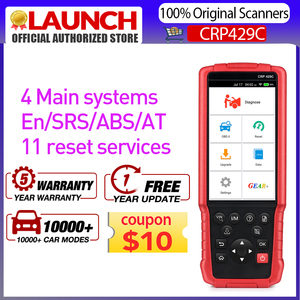 LAUNCH X431 CRP429C OBD2 Code Reader Support Engine/ABS/Airbag/AT+11 Service CRP429 C Auto Diagnostic Tool For 1000+ kinds Car