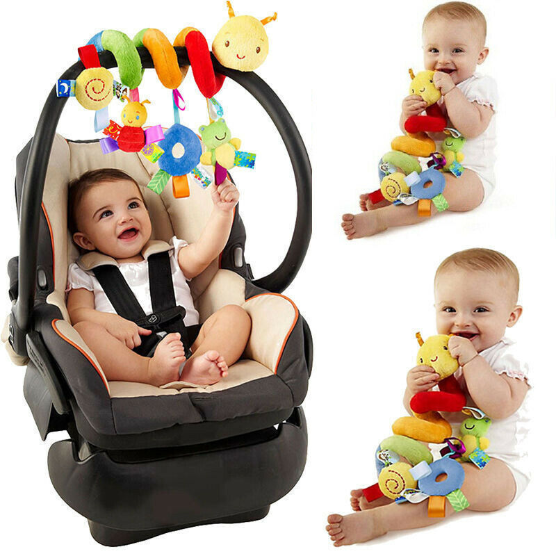 Baby Spiral Activity Hanging Toys Stroller Toys Car Seat Pram Toy Activity Spiral Plush Toys Stroller and Travel Activity Toy