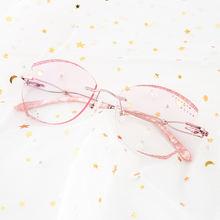 Женские очки без оправы reven jate титановые и с бриллиантами