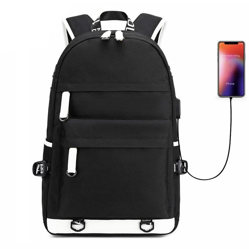Waterproof Men Boy Laptop Backpack USB Charge Rucksack Outdoor Travel School Bag