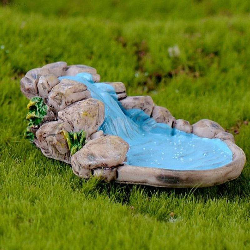 1pc Micro Landscape Garden Decor DIY Miniatures Decoration For Fairy Lawn Mountain Stream Ornament Home Craft Accessories