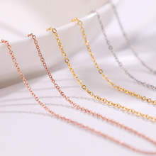 Ailodo Never Fade Titanium Steel Chain Necklace Gold Silver Rose Gold Color DIY Necklace Chain 2019 New Fashion Jewelry LD373 trendy never fade titanium steel snake chain choker necklace for women