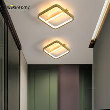 Led Ceiling Light Modern Indoor Home Ceiling Lamp For Living Room Bedroom Dining Room Aisle Corridor Lights Black& Gold Frame