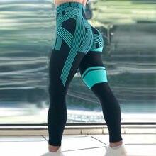 Mallas deportivas estampadas para mujer, ropa interior de cintura alta, elástica, para correr, Fitness, Yoga, 45
