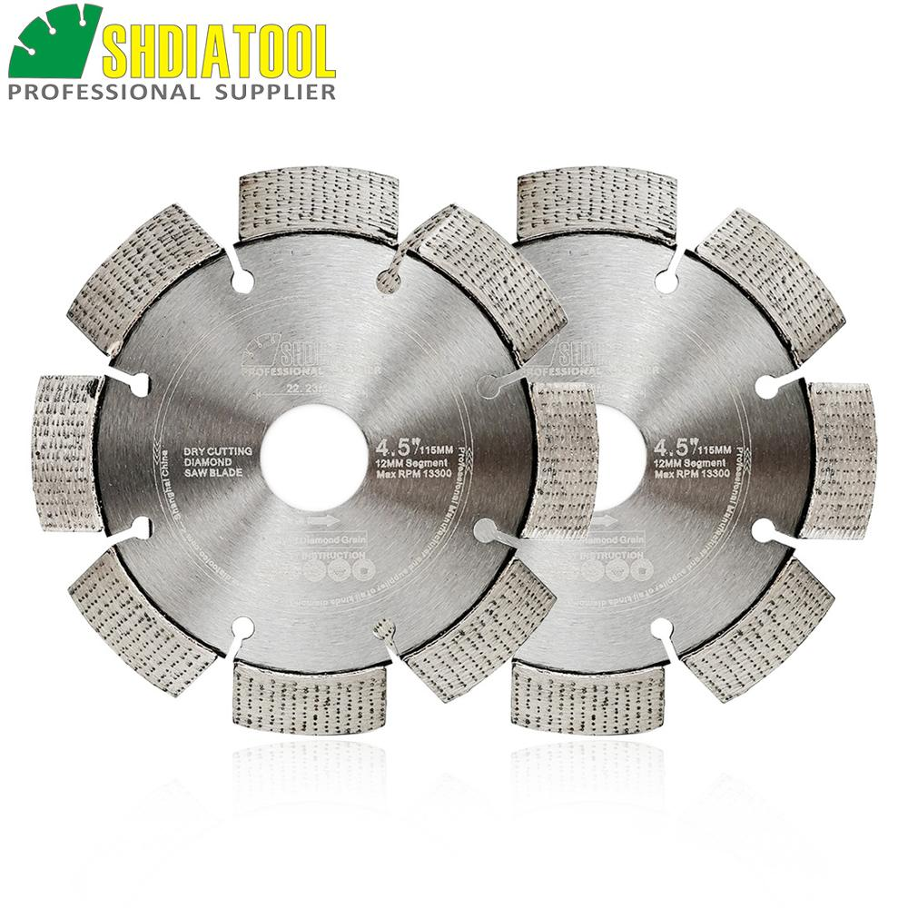 SHDIATOOL 2pcs Professional Laser Welded Diamond Blade Arrayed Diamond Wheel Cutting Disc Hard Reinforced Concrete Granite
