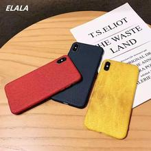 ELALA Marble Case on sFor iPhone X 7 Matte Soft TPU Cover For 6S 8 Plus  Xr Xs Max Texture Full protection Cases