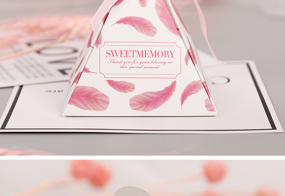 Triangular Pyramid Marble Candy Box Wedding Favors and Gifts Boxes Chocolate Box for Guests Giveaways Boxes Party Supplies-38